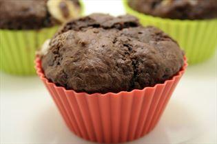 Muffins mit dreifach Schokolade