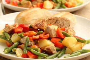 Kartoffelsalat mit Schinken
