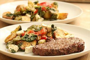 Steaks mit warmem Kartoffelsalat