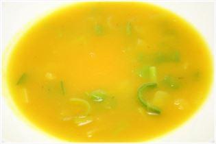 Kürbissuppe mit Porree