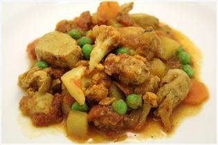 Hähnchenbrust mit indischem Curry