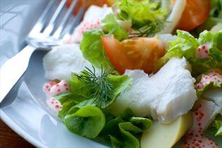 Dorschsalat mit Seehasenrogen