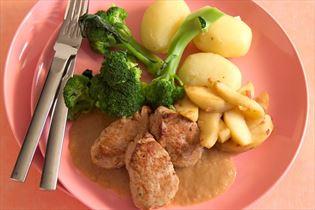 Filetsteaks mit Senfsauce und Brokkoli