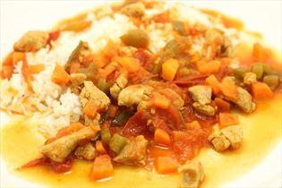 Einfacher Filettopf mit Rosmarin und Reis