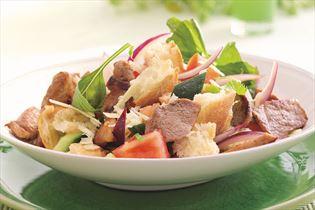 Schinkengeschnetzeltes mit toskanischem Salat