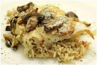 Heilbutt auf Reisbett