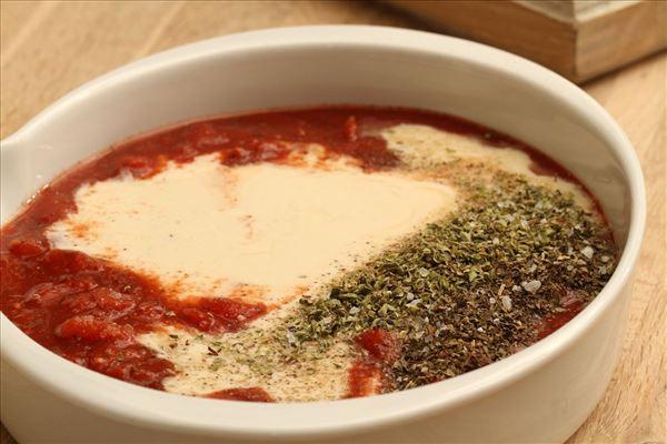 Putenfilet in Tomaten-Käse-Sauce