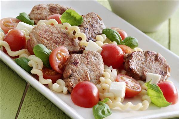 Schweinefilet mit Mozzarellapasta