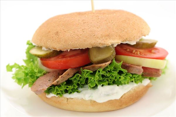 Lamm-Burger mit Tsatsiki