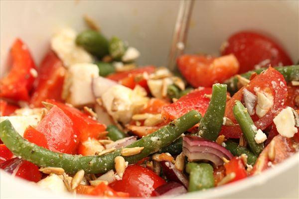 Bohnensalat mit Feta