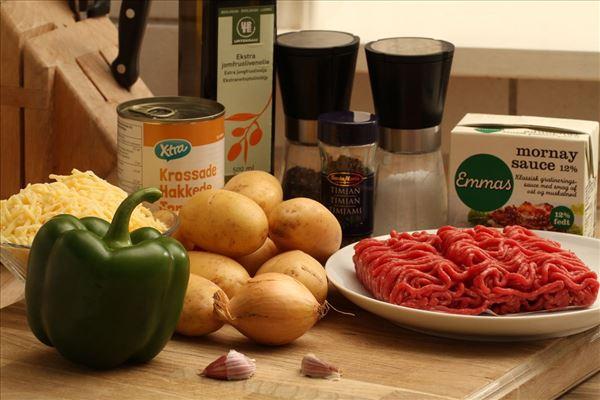 Gehacktes Rindfleisch mit Kartoffeldecke