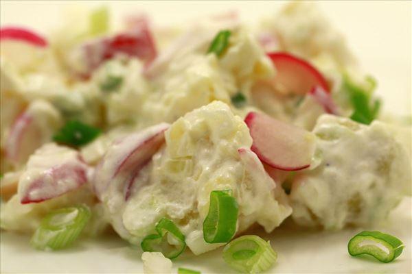 Kartoffelsalat mit Radieschen und Frühlingszwiebeln