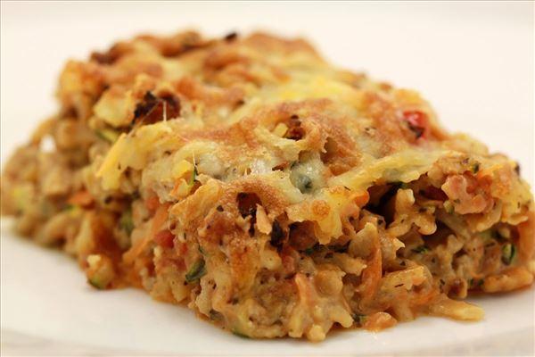 Hähnchenlasagne mit Pasta und Gemüse
